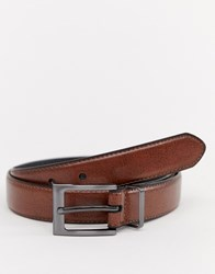 Peter Werth Leather Skinny Leather Belt In Brown Tan