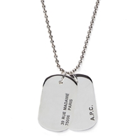 A.P.C. Army Necklace Silver