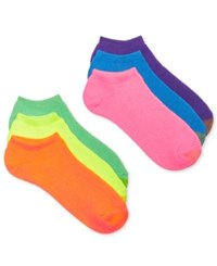 Gold Toe Women's Ankle Cushion No Show 6 Pack Socks Also Available In Extended Sizes Neon