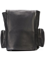 Hood By Air Side Pockets Backpack Men Cotton Leather One Size Black