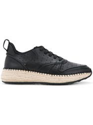 Tod's Contrast Sole Trainers Women Calf Leather 38.5 Black