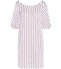 Isa Arfen Full Sleeve Mini Cotton Shirt Dress White