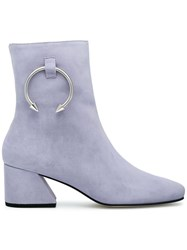 Dorateymur Nizip Ii 60 Suede Ankle Boots Suede Leather Pink Purple