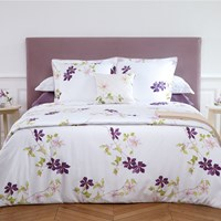 Yves Delorme Clematis Duvet Cover Pink Purple