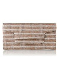 Lk Bennett Laura Clutch With Flap Silver
