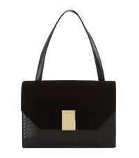 Ted Baker Margo Croc Embossed Shoulder Bag Female Black