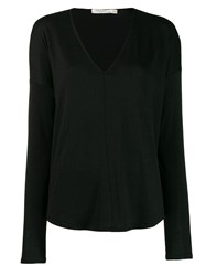 Rag And Bone Long Sleeve Fitted Sweater Black