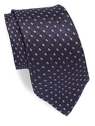 Theory Embroidered Silk Tie Eclipse