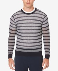 Perry Ellis Men's Striped Ombre Sweater Only At Macy's Dark Sapphire