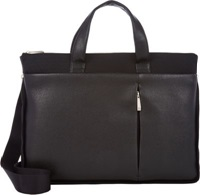 Barneys New York Expandable Slim Briefcase Black