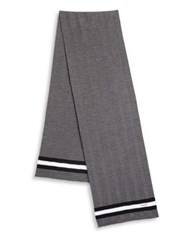 Bally Striped Wool Scarf Grey