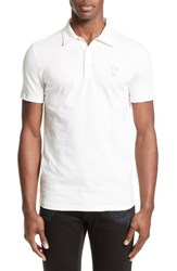 Versace Men's Collection Trim Fit Polo White