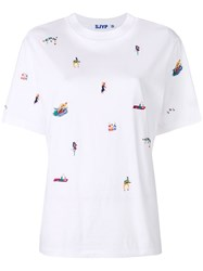 Sjyp Embroidered T Shirt White