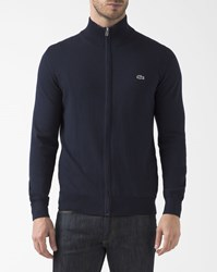 Lacoste Navy Blue Zip Up Cardigan
