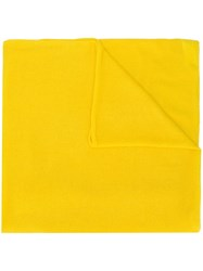Allude Fine Knit Scarf Yellow