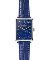 Gomelsky By Shinola Shirley 32Mm Alligator Strap Watch With Lapis Dial Blue