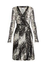 Diane Von Furstenberg Lilyann Dress Black White