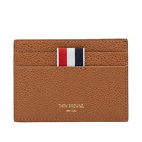 Thom Browne Single Card Holder Brown