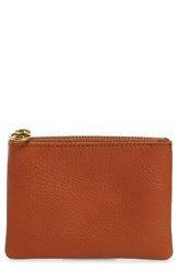 Madewell Small Victory Leather Pouch Brown English Saddle