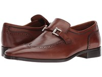 Massimo Matteo Slip On Wing Bit Castagna Slip On Dress Shoes Brown