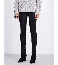 J Brand Super Skinny Mid Rise Waxed Jeans Fearless
