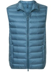 Cerruti 1881 Padded Zipped Up Gilet Blue