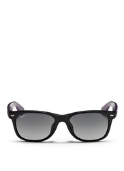 Ray Ban 'New Wayfarer Colour Mix' Matte Plastic Sunglasses Black