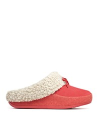 Fitflop The Cuddler Snugmoc Tm Suede And Italian Felt Slippers Pink