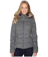 Obermeyer Bombshell Jacket Light Heather Grey Women's Coat Silver