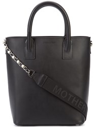 Mother Of Pearl Extra Chain Mini Tote Women Leather One Size Black