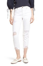 Habitual Vale Distressed Slant Fray Cuff Jeans Chalk