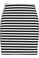 Michael Michael Kors Striped Ponte Mini Skirt Black