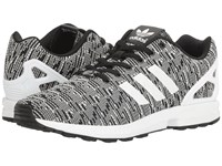 Adidas Zx Flux Graphic Black Running White Vivid Blue Men's Running Shoes Gray