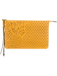 Chloe Hey Clutch Bag Women Leather One Size Yellow Orange