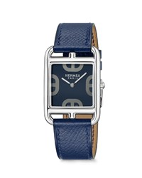 Hermes Cape Cod Watch Stainless Steel And Leather Strap
