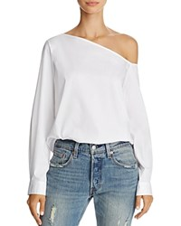 Dylan Gray One Shoulder Shirt White