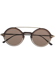 Bottega Veneta Eyewear Round Frame Sunglasses Brown