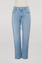 Etoile Isabel Marant Cliff Cotton Jeans Blue