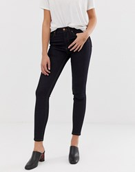 French Connection Thermal High Rise Skinny Jeans Navy