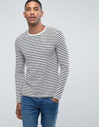 Jack And Jones Stripe Long Sleeve Top White