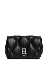 Balenciaga Touch Quilted Leather Clutch Black