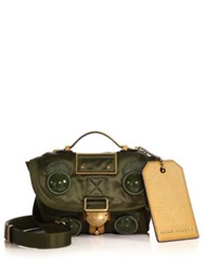 Marc Jacobs Military Silk Messenger Bag Military Green Saffron