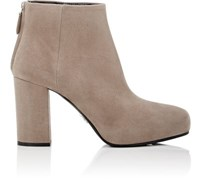 Prada Women's Pointed Toe Ankle Boots Beige