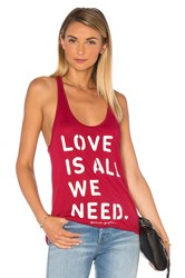 Spiritual Gangster Love Is All We Need Favorite Racerback Tank Red