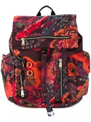 Paul Smith Ocean Print Backpack Multicolour