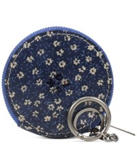 Patricia Nash Denim Fields Mini Scafati Key Chain Pouch Denim Daisies