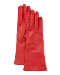 Portolano Napa Leather Gloves Red