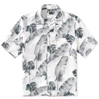 Over All Master Cloth Oamc Short Sleeve Tropic Shirt White
