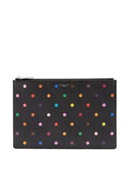 Givenchy Polka Dot Print Coated Canvas Pouch 1061 Black Multi