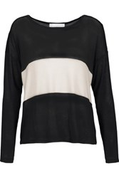 Kain Label Mata Two Tone Stretch Knit Sweater Black